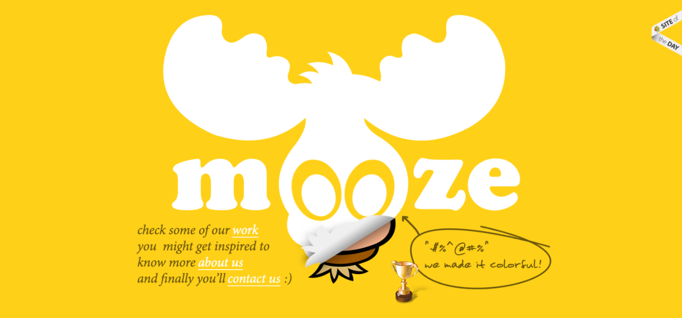 Mooze uses yellow to create authority and warmth