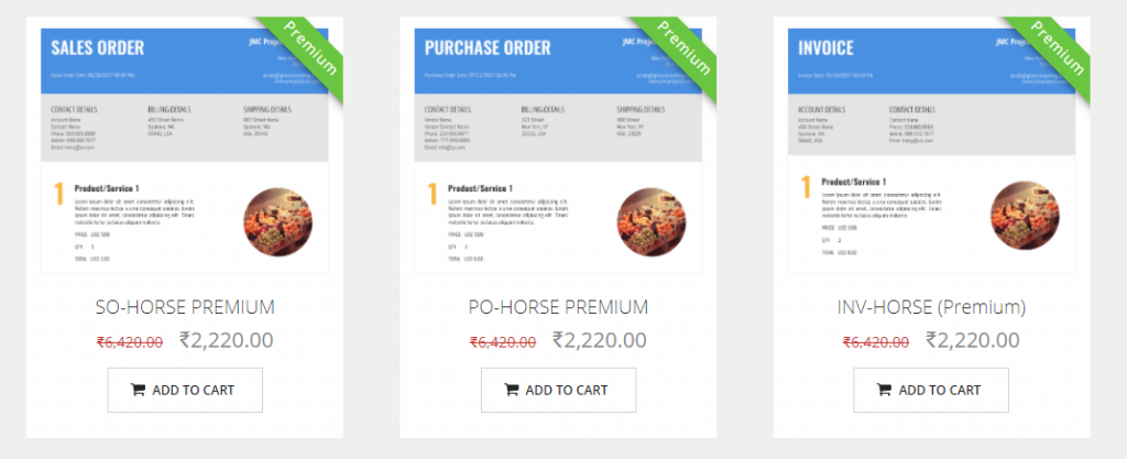 Zoho CRM inventory templates for travel agency