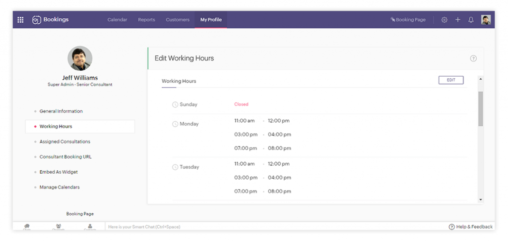 Zoho bookings for managing your appointment: Fixing appointment dates