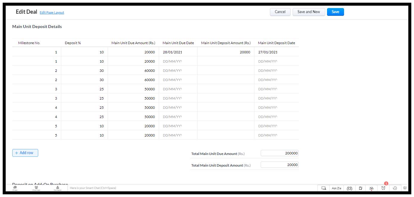 Updating Payment Milestones