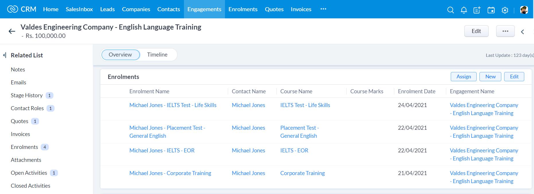 Training Provider CRM