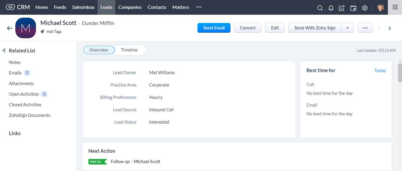CRM for Law Firm
