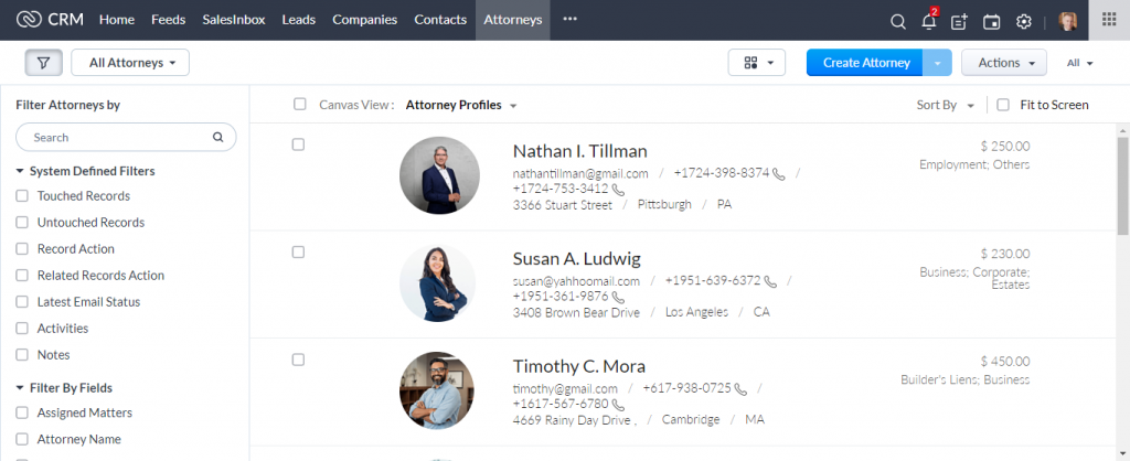 Law Firm CRM_Attorney