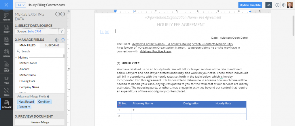 Law Firm CRM_Contract