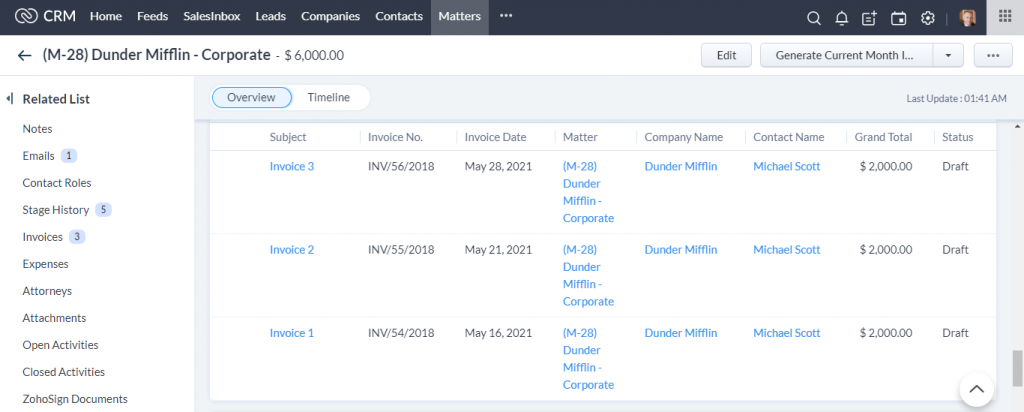 Law Firm CRM_Invoices
