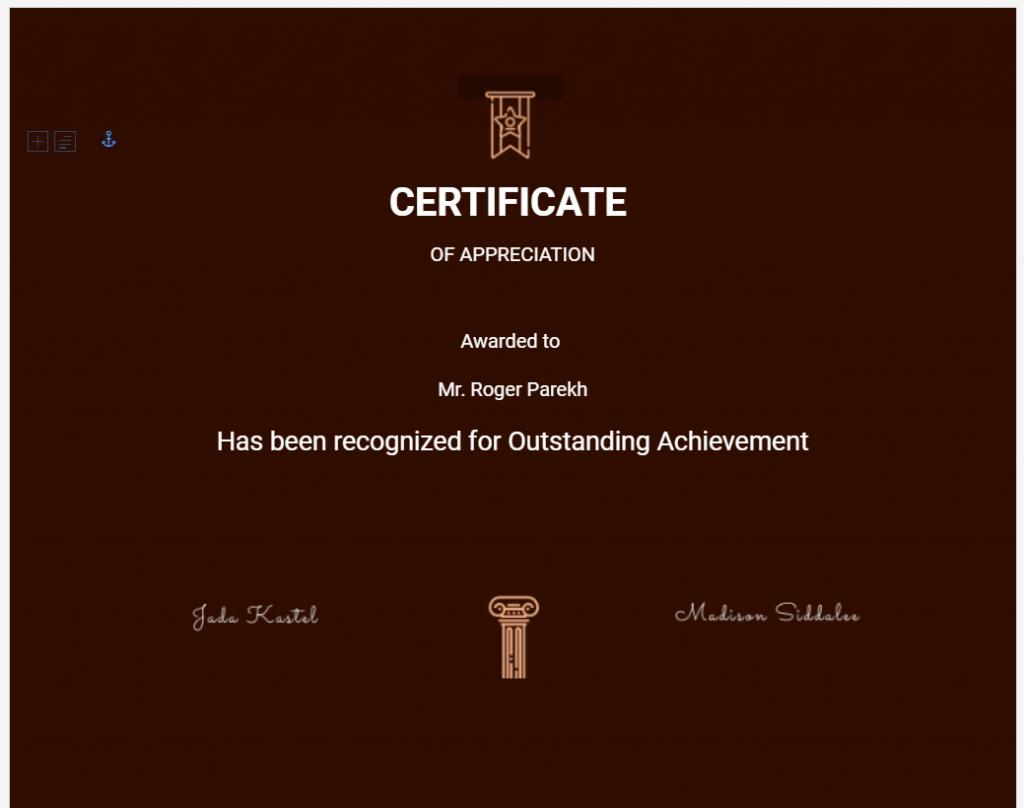 Training Provider CRM- Certificate