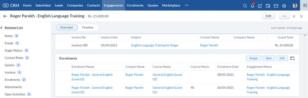 Training Provider CRM- Multiple Enrolments for one Engagement